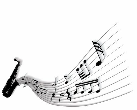 simsearch:400-05714680,k - Vector musical notes staff background for design use Stock Photo - Budget Royalty-Free & Subscription, Code: 400-05155003