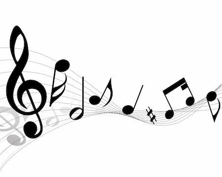 simsearch:400-05714680,k - Vector musical notes staff background for design use Stock Photo - Budget Royalty-Free & Subscription, Code: 400-05156284