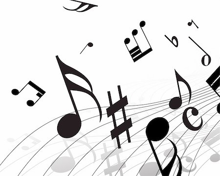 simsearch:400-05714680,k - Vector musical notes staff background for design use Stock Photo - Budget Royalty-Free & Subscription, Code: 400-05156281