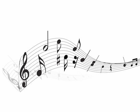 simsearch:400-05714680,k - Vector musical notes staff background for design use Stock Photo - Budget Royalty-Free & Subscription, Code: 400-05156282