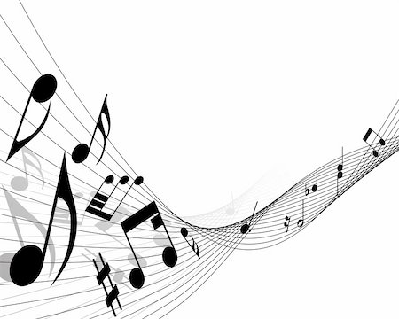 simsearch:400-05714680,k - Vector musical notes staff background for design use Stock Photo - Budget Royalty-Free & Subscription, Code: 400-05156283