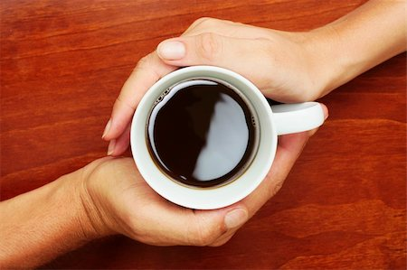 spanishalex (artist) - Coffee Cup betwen two hands in a yin and yang manner Stock Photo - Budget Royalty-Free & Subscription, Code: 400-05157096