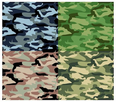 enemy - Vector textures, camouflage pattern series. Military textures. Stock Photo - Budget Royalty-Free & Subscription, Code: 400-05158582