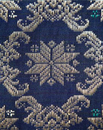 Detail of a Songket from Palembang Stock Photo - Budget Royalty-Free & Subscription, Code: 400-05158928