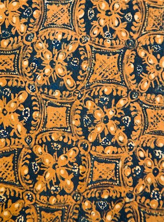 Detail of a batik design from Indonesia Stock Photo - Budget Royalty-Free & Subscription, Code: 400-05158974