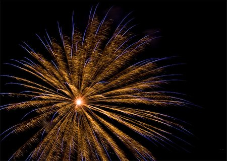 beautiful and colorful  fireworks display at night Stock Photo - Budget Royalty-Free & Subscription, Code: 400-05159429