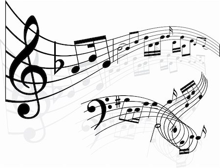 stave - Music notes backgrounds Stock Photo - Budget Royalty-Free & Subscription, Code: 400-05152025