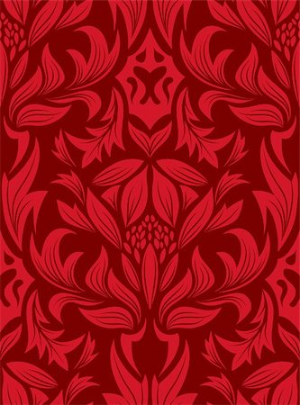 Damask seamless vector background.  For easy making seamless pattern just drag all group into swatches bar, and use it for filling any contours. Stock Photo - Budget Royalty-Free & Subscription, Code: 400-05152335