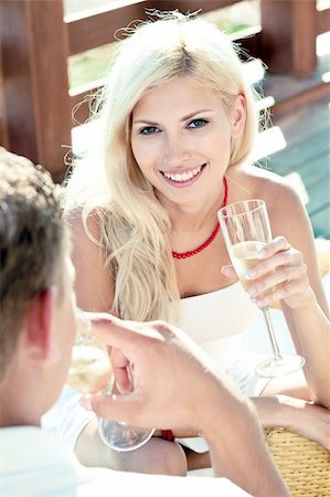 lovers drinking wine Stock Photo - Budget Royalty-Free & Subscription, Code: 400-05152509
