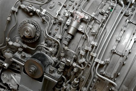 Details of an old aircraft engine Stock Photo - Budget Royalty-Free & Subscription, Code: 400-05152692