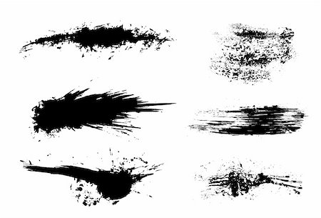 diffrent brushes set of grunge vector Stock Photo - Budget Royalty-Free & Subscription, Code: 400-05153010
