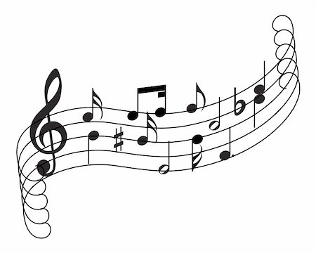 Musical notes staff theme for use in web design Stock Photo - Budget Royalty-Free & Subscription, Code: 400-05153938
