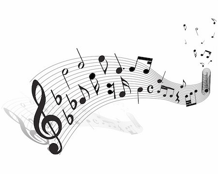 stave - Musical notes staff theme for use in web design Stock Photo - Budget Royalty-Free & Subscription, Code: 400-05153939