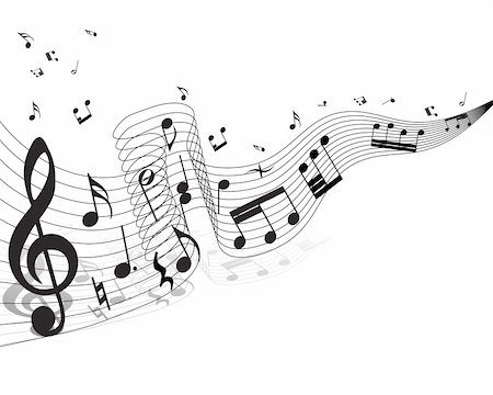 stave - Musical notes staff theme for use in web design Stock Photo - Budget Royalty-Free & Subscription, Code: 400-05153940