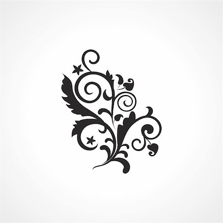 white background with black modern design tattoo Stock Photo - Budget Royalty-Free & Subscription, Code: 400-05168111