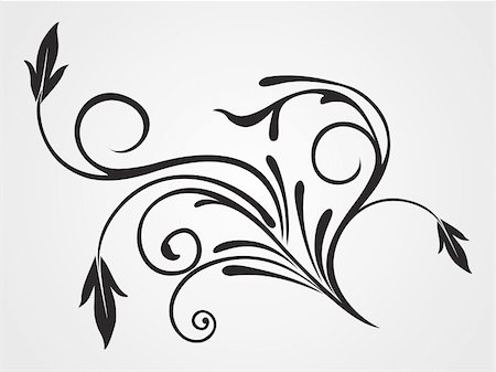 background with black flourish pattern isolated tattoo Stock Photo - Budget Royalty-Free & Subscription, Code: 400-05168128