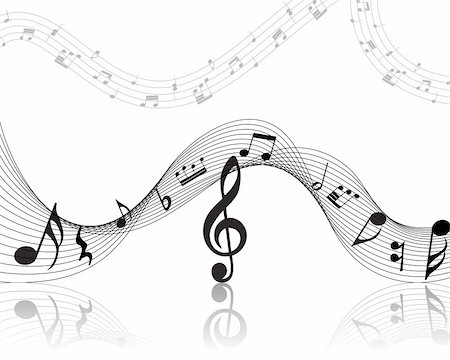 simsearch:400-05714680,k - Vector musical notes staff background for design use Stock Photo - Budget Royalty-Free & Subscription, Code: 400-05169490