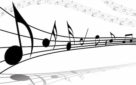 simsearch:400-05714680,k - Vector musical notes staff background for design use Stock Photo - Budget Royalty-Free & Subscription, Code: 400-05160236