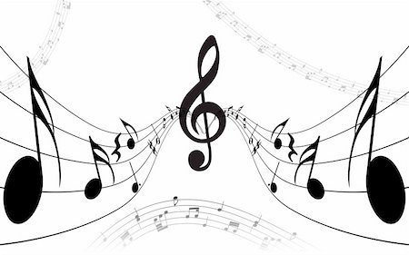 simsearch:400-05714680,k - Vector musical notes staff background for design use Stock Photo - Budget Royalty-Free & Subscription, Code: 400-05160237