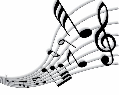 simsearch:400-05714680,k - Vector musical notes staff background for design use Stock Photo - Budget Royalty-Free & Subscription, Code: 400-05160752