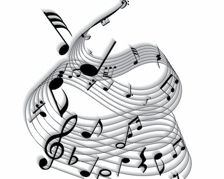 simsearch:400-05714680,k - Vector musical notes staff background for design use Stock Photo - Budget Royalty-Free & Subscription, Code: 400-05160753