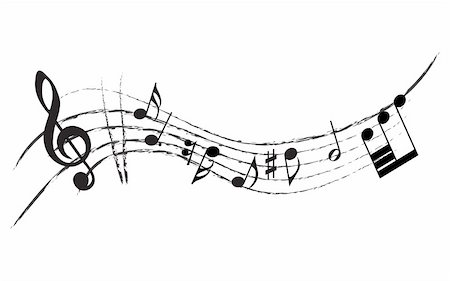 simsearch:400-05714680,k - Vector musical notes staff background for design use Stock Photo - Budget Royalty-Free & Subscription, Code: 400-05162018