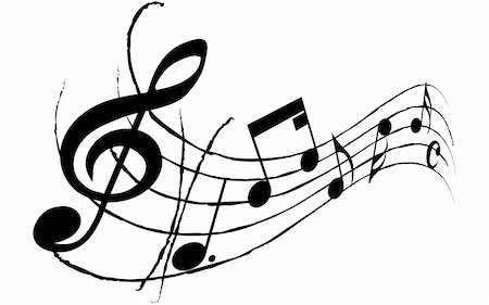 simsearch:400-05714680,k - Vector musical notes staff background for design use Stock Photo - Budget Royalty-Free & Subscription, Code: 400-05162019