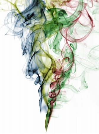 abstract color smoke from white background . The abstract image of a smoke on a white background Stock Photo - Budget Royalty-Free & Subscription, Code: 400-05162875