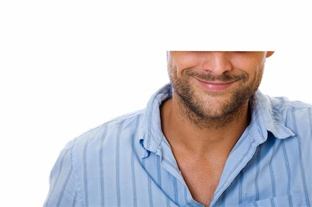 spanishalex (artist) - Man smiling and holding white sign with copyspace Stock Photo - Budget Royalty-Free & Subscription, Code: 400-05175887