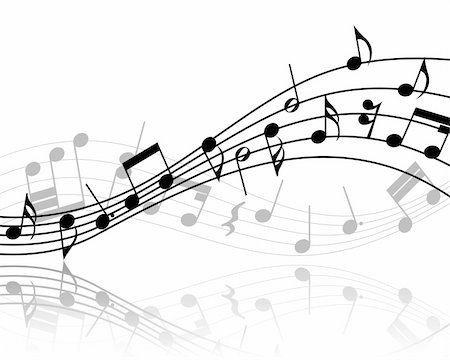 Vector musical notes staff background for design use Stock Photo - Budget Royalty-Free & Subscription, Code: 400-05177374