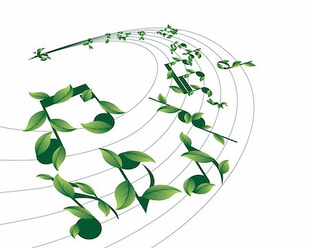 simsearch:400-04676325,k - Vector musical notes staff background for design use Stock Photo - Budget Royalty-Free & Subscription, Code: 400-05178294