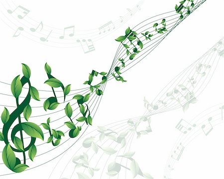 simsearch:400-04676325,k - Vector musical notes staff background for design use Stock Photo - Budget Royalty-Free & Subscription, Code: 400-05178295