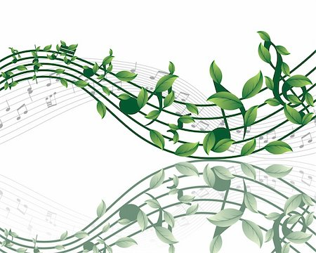 Vector musical notes staff background for design use Stock Photo - Budget Royalty-Free & Subscription, Code: 400-05178291