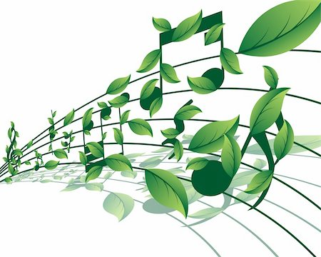 picture of music staff with notes - Vector musical notes staff background for design use Stock Photo - Budget Royalty-Free & Subscription, Code: 400-05178292