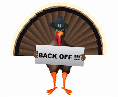 angry cartoon turkey with banner Stock Photo - Budget Royalty-Free & Subscription, Code: 400-05179147