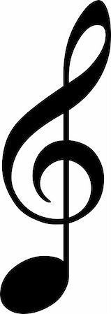 black clef drawn as note Stock Photo - Budget Royalty-Free & Subscription, Code: 400-05179744