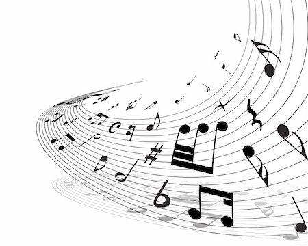 Vector musical notes staff background for design use Stock Photo - Budget Royalty-Free & Subscription, Code: 400-05179960