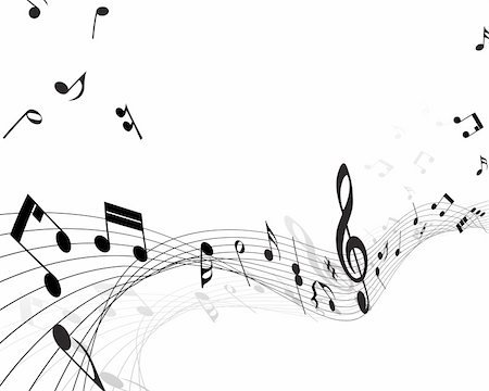 Vector musical notes staff background for design use Stock Photo - Budget Royalty-Free & Subscription, Code: 400-05179961