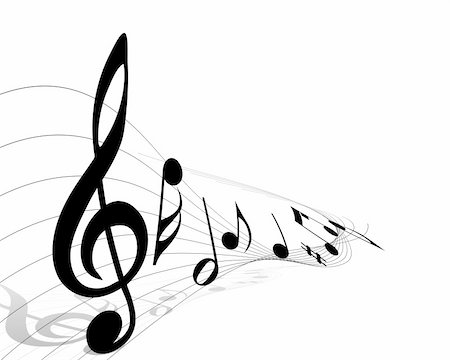 Vector musical notes staff background for design use Stock Photo - Budget Royalty-Free & Subscription, Code: 400-05179962