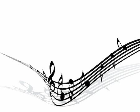 simsearch:400-04676325,k - Vector musical notes staff background for design use Stock Photo - Budget Royalty-Free & Subscription, Code: 400-05179963