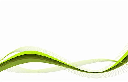 Abstract white background with green waves, vector illustration Stock Photo - Budget Royalty-Free & Subscription, Code: 400-05170438