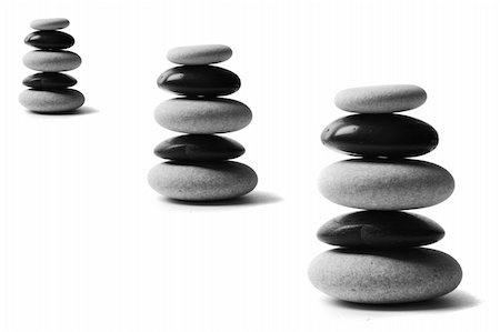 spanishalex (artist) - Stone stacks made up of alternate black and white pebbles Stock Photo - Budget Royalty-Free & Subscription, Code: 400-05171274