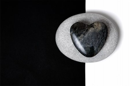 spanishalex (artist) - Stone heart on a white stone on a split background Stock Photo - Budget Royalty-Free & Subscription, Code: 400-05171272