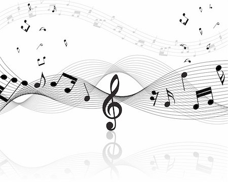 Vector musical notes staff background for design use Stock Photo - Budget Royalty-Free & Subscription, Code: 400-05172149