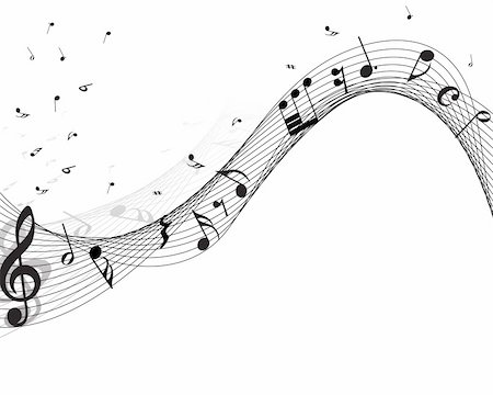 simsearch:400-05714680,k - Vector musical notes staff background for design use Stock Photo - Budget Royalty-Free & Subscription, Code: 400-05172150