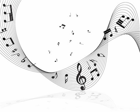 stave - Vector musical notes staff background for design use Stock Photo - Budget Royalty-Free & Subscription, Code: 400-05172151