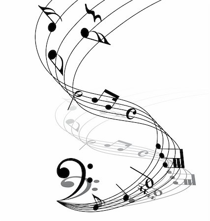 simsearch:400-04676325,k - Vector musical notes staff background for design use Stock Photo - Budget Royalty-Free & Subscription, Code: 400-05173707