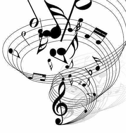 simsearch:400-04676325,k - Vector musical notes staff background for design use Stock Photo - Budget Royalty-Free & Subscription, Code: 400-05173709