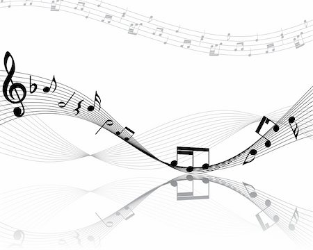 simsearch:400-04676325,k - Vector musical notes staff background for design use Stock Photo - Budget Royalty-Free & Subscription, Code: 400-05173711