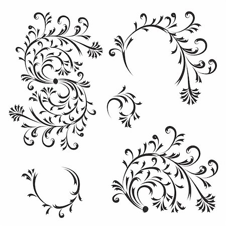 designer backgrounds - Floral ornament, design elements Stock Photo - Budget Royalty-Free & Subscription, Code: 400-05184232